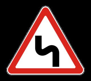 Знак 1.12.2 Опасные повороты