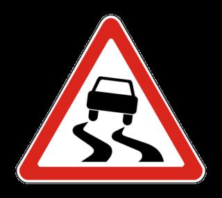 Знак 1.15 Скользкая дорога
