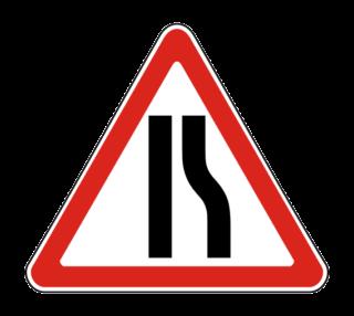 Знак 1.20.2 Сужение дороги