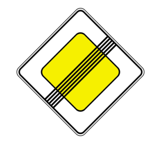 Знак 2.2 Конец главной дороги
