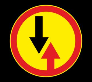 Знак 2.6 Преимущество встречного движения (Временный)