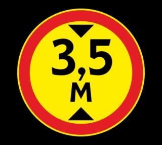 Знак 3.13 Ограничение высоты (Временный)
