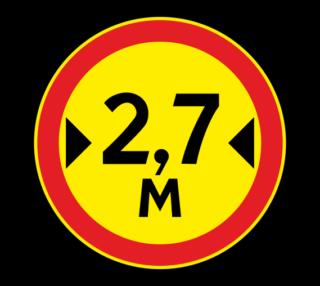 Знак 3.14 Ограничение ширины (Временный)