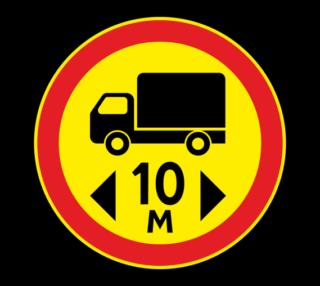 Знак 3.15 Ограничение длины (Временный)