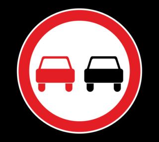 Знак 3.20 Обгон запрещен
