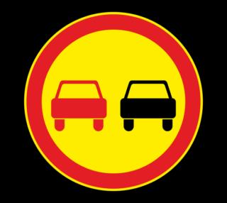 Знак 3.20 Обгон запрещен (Временный)