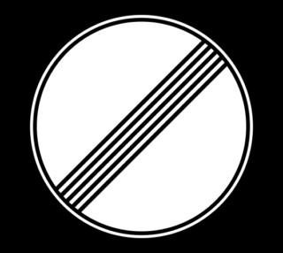 Знак 3.31 Конец всех ограничений