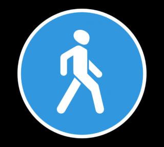 Знак 4.5.1 Пешеходная дорожка