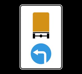 Знак 4.8.3 Направление движения транспортных средств с опасными грузами