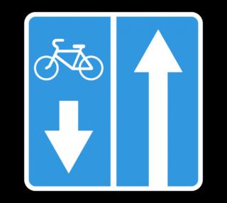 Знак 5.11.2 Дорога с полосой для велосипедов