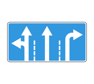 Знак 5.15.1 Направления движения по полосам