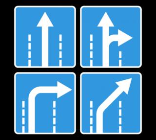 Знак 5.15.2 Направления движения по полосе