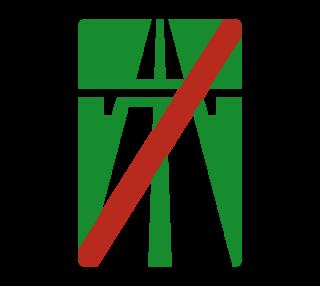 Знак 5.2 Конец автомагистрали
