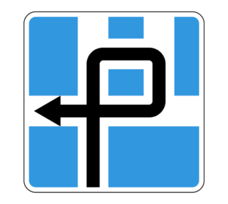 Знак 6.9.3 Схема движения