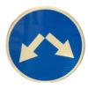 Маска дорожного знака круглая