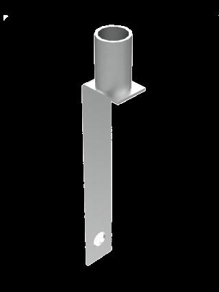 Крепление на барьерное ограждение для сигнальной вехи